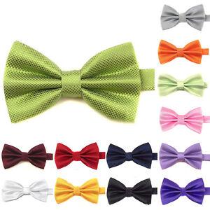Uomo-Collo-Ad-Anello-Regolabile-Papillon-Fiocco-Legame-Arco-Matrimonio-Business