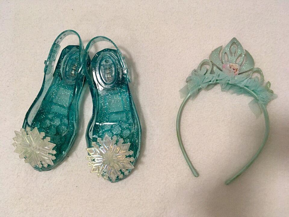 Udklædningstøj, Elsa kjole og sko, Ukendt
