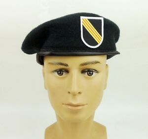 US-MILITARY-GREEN-BERET-SPECIAL-FORCES-CAP-HAT-5TH-SFGA-BERET-FLASH-HAT-SIZE-XL