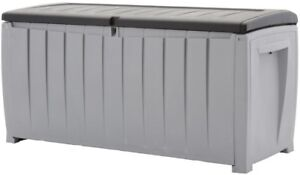 Image Is Loading Large Deck Storage Box Outdoor Patio Bench Durable