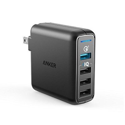 Anker Quick Charge 3 0 43 5W 4-Port USB Wall Charger, PowerPort Speed 4 for  | eBay