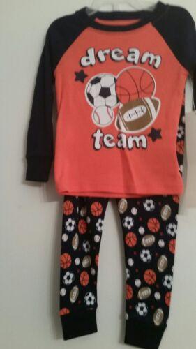 Details about  /Boys Kids Pajamas Set  Sleepwear Pj/'s FOOTBALL  9 MONTHS   18 MONTHS