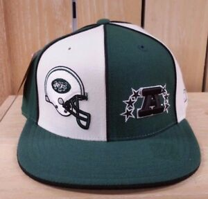 eba8088bef7 VINTAGE REEBOK NEW YORK JETS FITTED BASEBALL HAT CAP GREEN WHITE MEN ...