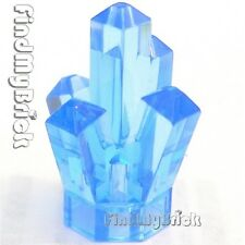 P050B - Lego Rock 1x1 Crystal - Trans-Medium Blue - NEW
