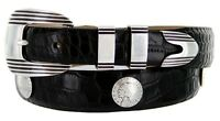 The Algoma - Italian Calfskin Leather Belt With Indian Head Coin Concho, 1-1/8