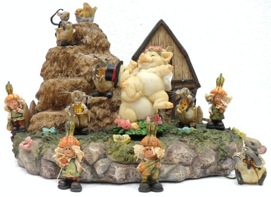 ZAMBIASI 816546-ESPOSITORE  THE FARM  WITH 11 FIGURE-CM 32x25x20 H-WITCHES