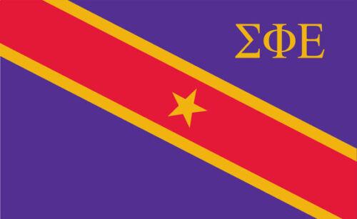 "Sigma Phi Epsilon SigEp 4/"" Fraternity Main Flag Sticker"