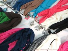 US SELLER |10pcs  fashion scarf with pendant charm jewelry wholesale lot