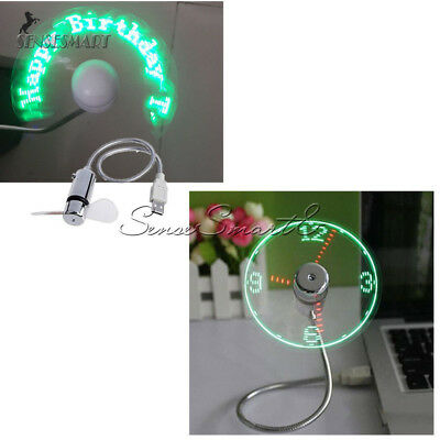 1PC LED Clock USB Fan Powered Cooling Flashing Real Time Display Function Mini