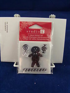 NEW-STUDIO-G-CLEAR-STAMP-SET-GINGERBREAD-MAN-PEPPERMINT-CHRISTMAS-CANDY-VC0057