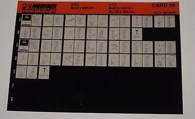 Bücher UnabhäNgig Ersatzteilkatalog Microfich Parts Catalog Mariner Outboards 2 A2 Service & Reparaturanleitungen 5 C2 08/1998 Blut NäHren Und Geist Einstellen