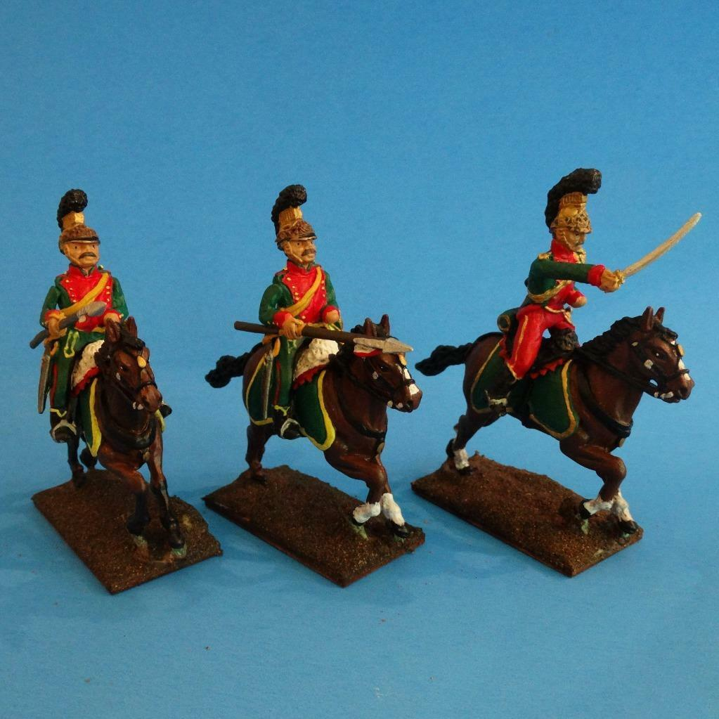 MI-489 - French 4th Lancers - Napoleonics (3 figs) - Li'l Army - 60mm Metal
