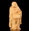 thumbnail 5 - Chinese Box-wood Hand Carving Happy Laugh Maitreya Buddha Hold Fan Stand Statue