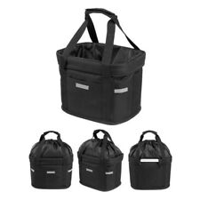 Foldable Bicycle Front Basket Bike Handlebar Basket Pet Carrier Frame Bag K8M1