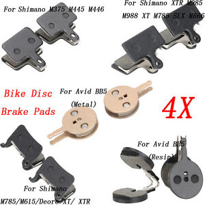 2pairs Mountain Bicycle Cycling Disc Brake Pads Part for Shimano M375 M445 M446