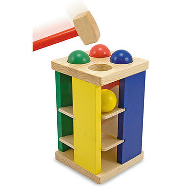 Melissa and Doug * Pound And Roll Tower * NEW classic toy wooden hammer peg