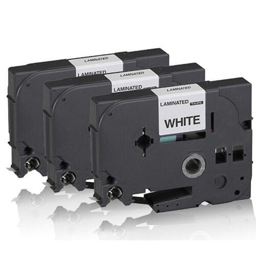 3x Kompatible Schriftbänder für Brother PTouch-7600-VP 9MM x 8M Ersatz