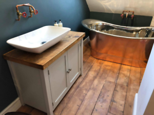 Details About Rustic Painted Solid Wood Bathroom Washstand Vanity Sink Unit Large 4 Sizes