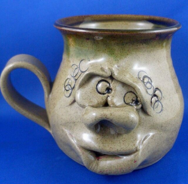 Vintage WALES UGLY MUG POTTERY Quirky Face CHARACTER MUG Collectable Kitchen