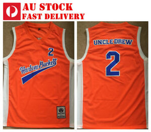 6b9ad010c Uncle Drew  2 Harlem Buckets Kyrie Irving 2018 movie Jersey S-3XL AU ...