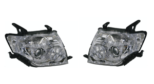 Pair-Left-Right-Headlight-lamp-Halogen-For-Mitsubishi-Pajero-Ns-Nx-2006-2015