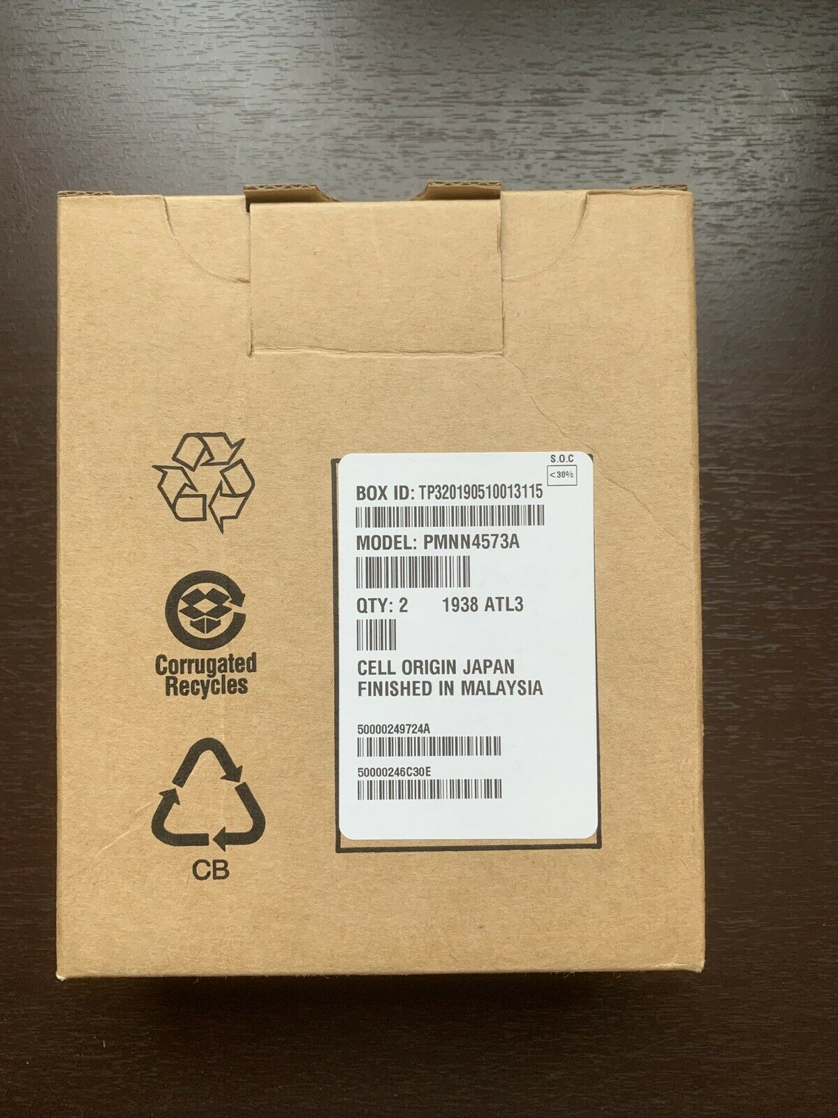 2-Motorola PMNN4573 extended battery for APX6000/APX7000.