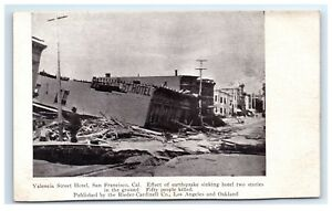 Postcard-Valencia-Street-Hotel-San-Francisco-CA-earthquake-fire-1906-G11-A