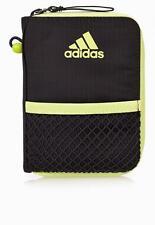 adidas performance unisex grey nylon zipper around closure wallet 15 x 10 x 2 cm