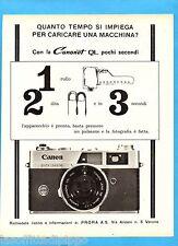 QUATTROR965-PUBBLICITA'/ADVERTISING-1965- CANON - CANONET QL