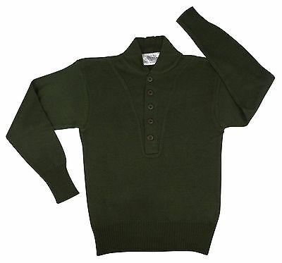 sweater gi military style 5 button acrylic various colors and sizes rothco 6368