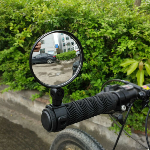 1* Bicycle Bar End Glass Rear View Rearview Mirror Convex Lens Fit Mountain Bike