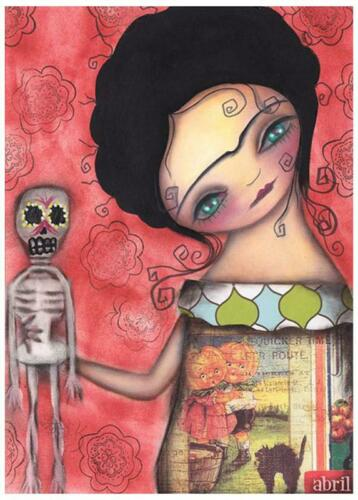 My Puppet by Abril Andrade Griffith Tattoo Art Print Sugar Skull Skeleton Poster
