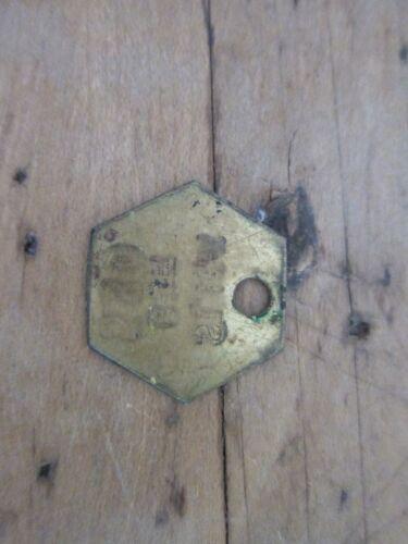 Vintage Aviation Brass Slick Burbank Work Token Key Tag Medal Medallion Badge