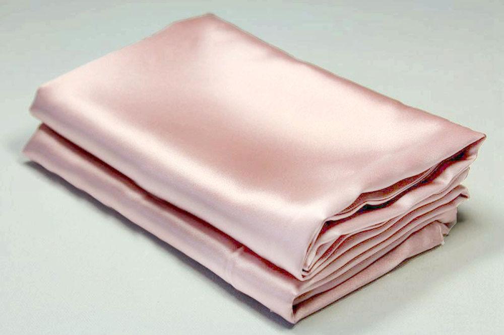 A Pair Of 22 Momme Charmeuse 100/% Pure Silk Pillowcase Cream 75 cm x 50 cm