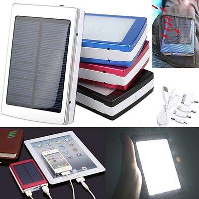 5000/10000/30000/50000mAh USB Solar Power Bank Mobile External Battery Charger