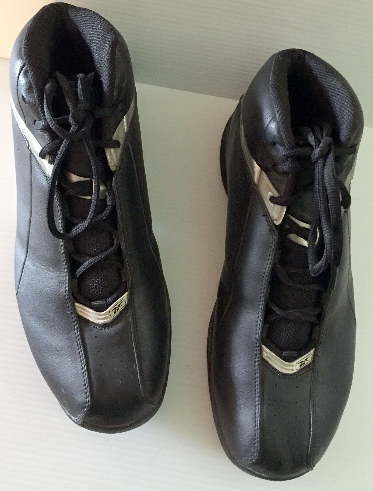 Auténticas Tenis de Baloncesto Reebok años 80 Mens Usa Negro Plata RB4-132089