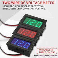 Led Display Digital Voltmeter Dc5 30v Car Gauge Voltage Panel Meter With 2 Wire
