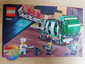LEGO-INSTRUCTIONS-BOOKLET-ONLY-Trash-Chomper-The-Lego-Movie-70805