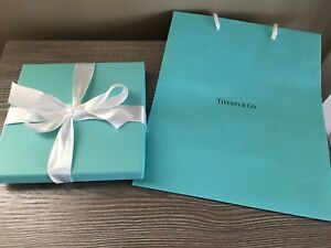 ee370a90b49 Image is loading Authentic-Tiffany-amp-Co-Gift-Box-Gift-Bag-