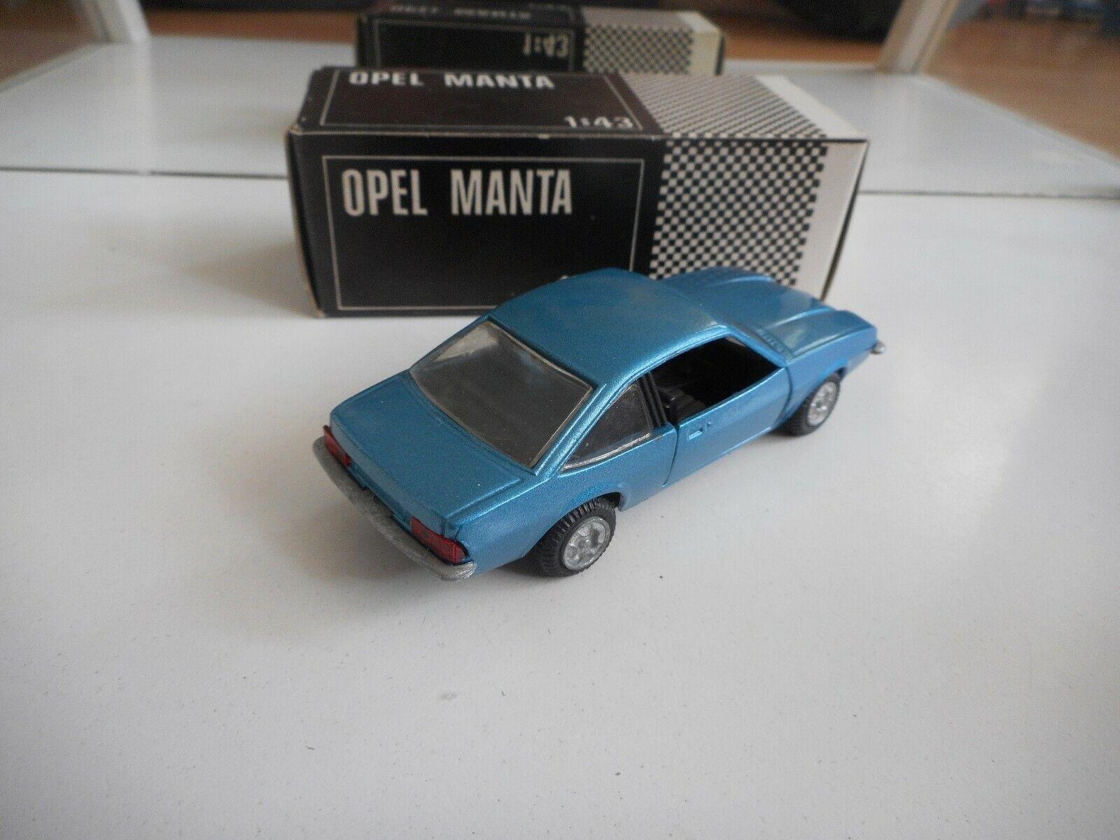 GM Motors Motors Motors Opel Manta in bluee on 1 43 in Box 36b30a