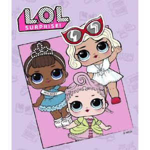 Plaid Fleece LOL Surprise Original 120x150 cm Baby Girl Gift Cover Blanket