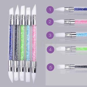 5 stk Silikon Nagel Pinsel Pen 5 Stil Kunst Nail Art Nagellack Brush DIY Carving