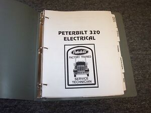 1997 1998 peterbilt model 320 factory electrical wiring diagram rh ebay com 2015 peterbilt 320 wiring diagram