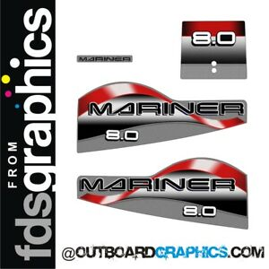 MERCURY 8hp DECAL KIT OUTBOARD DECALS
