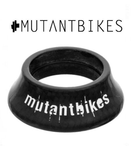 "NEW Mutant Bikes Carbon Fibre Internal BMX Headset Topcap Cover Spacer 1-1//8"""