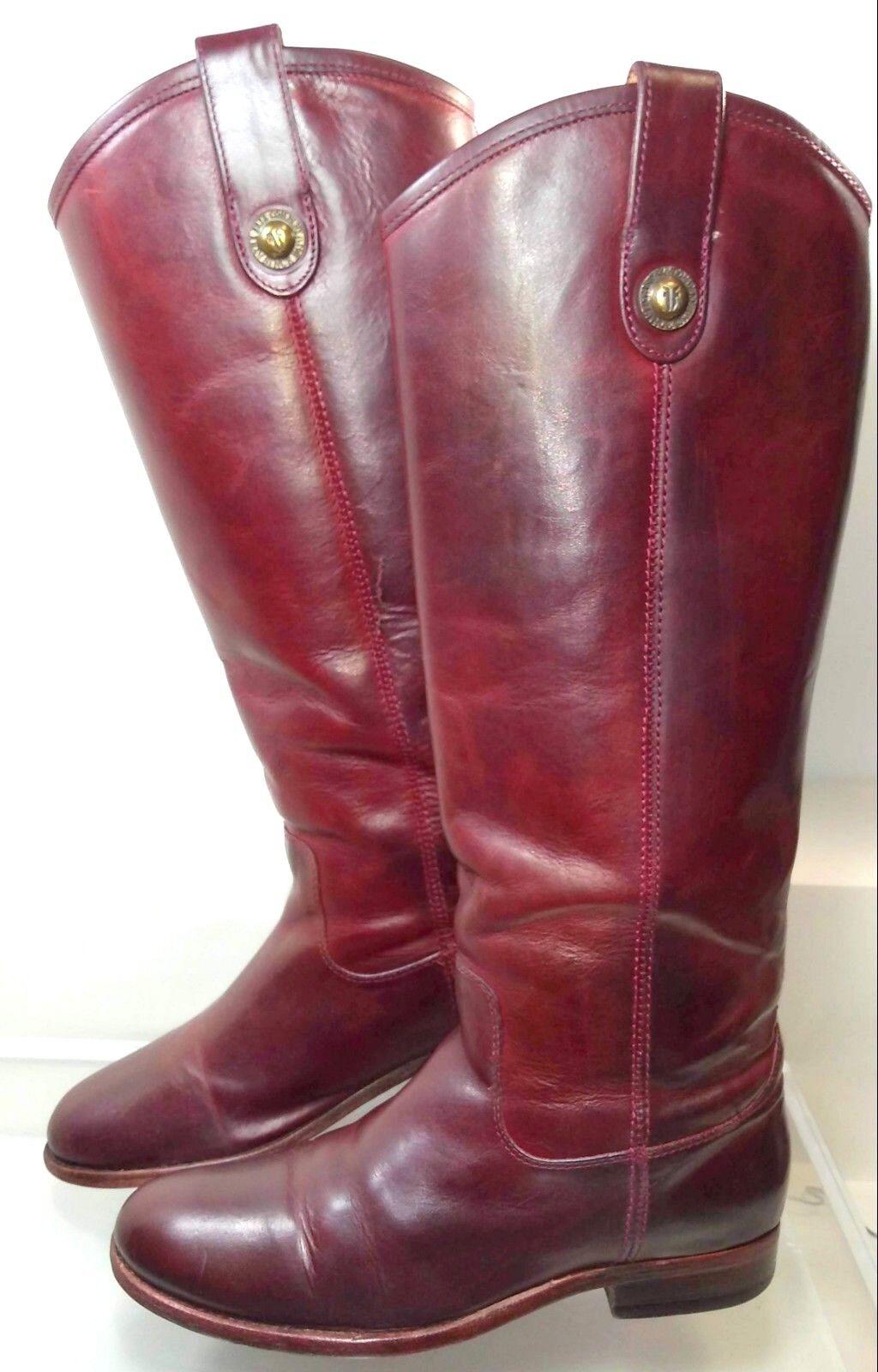 Frye Melissa Botón Rojo Rojo Rojo Cuero botas De Montar Mujer EE. UU. 5.5 Hecho En México 77167 d52a9a