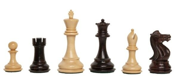 The Players Chess Set - Pieces Only - 3.75  King - Indian pinkwood