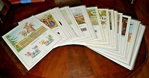 CatalinaStamps-43-Great-Britain-13-034-x-10-034-First-Day-Cards-1989-Lot-E