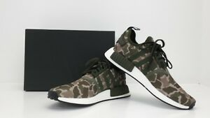 42c83cc02520c Adidas Men s NMD R1 SHOES DUCK CAMO SESAME STEEL GREEN D96617 BRAND ...