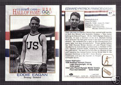 "SUPER RARE 1983 /""BLACK RING/"" OLYMPIC EDDIE EAGAN BOXING CARD #57"